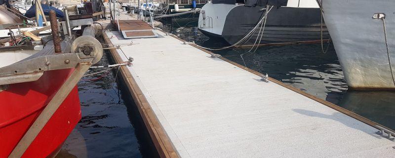 Marinetek pontoni instalirani u lučici Ribarska koliba u Puli